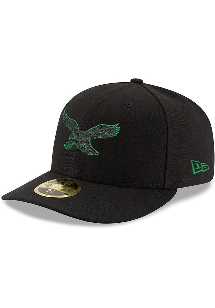 New Era Philadelphia Eagles Mens Midnight Green Tonal GCP LP 59FIFTY Fitted Hat - Image 1