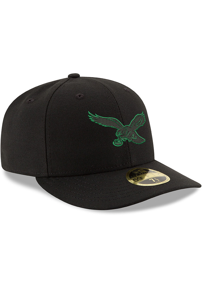 New Era Philadelphia Eagles Mens Midnight Green Tonal GCP LP 59FIFTY Fitted Hat - Image 2