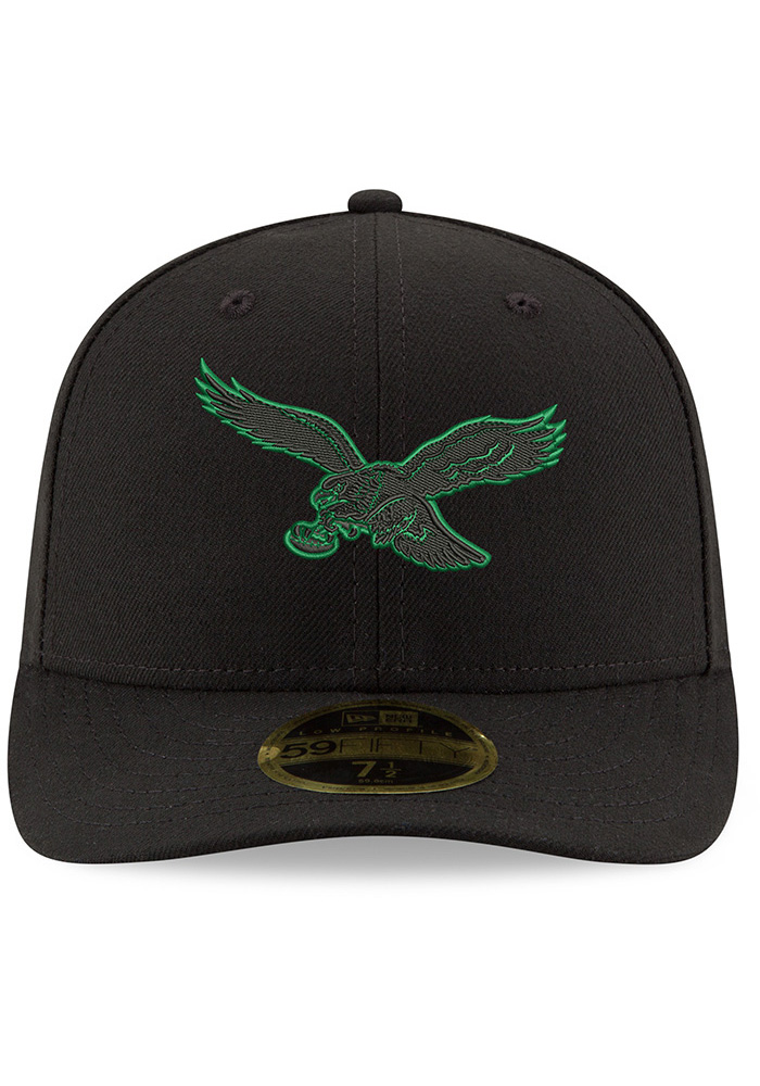 New Era Philadelphia Eagles Mens Midnight Green Tonal GCP LP 59FIFTY Fitted Hat - Image 3