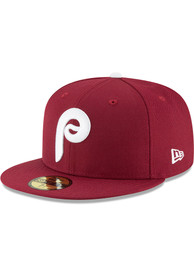 Philadelphia Phillies New Era 1970 Cooperstown Wool 59FIFTY Fitted Hat - Maroon