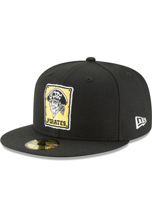 ab64fd7a5f9 Pittsburgh Pirates New Era Black 1967 Cooperstown Wool 59FIFTY Fitted Hat