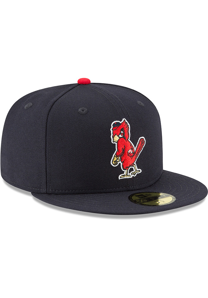 New Era St Louis Cardinals Mens Blue 1950 Cooperstown Wool 59FIFTY Fitted Hat - Image 2