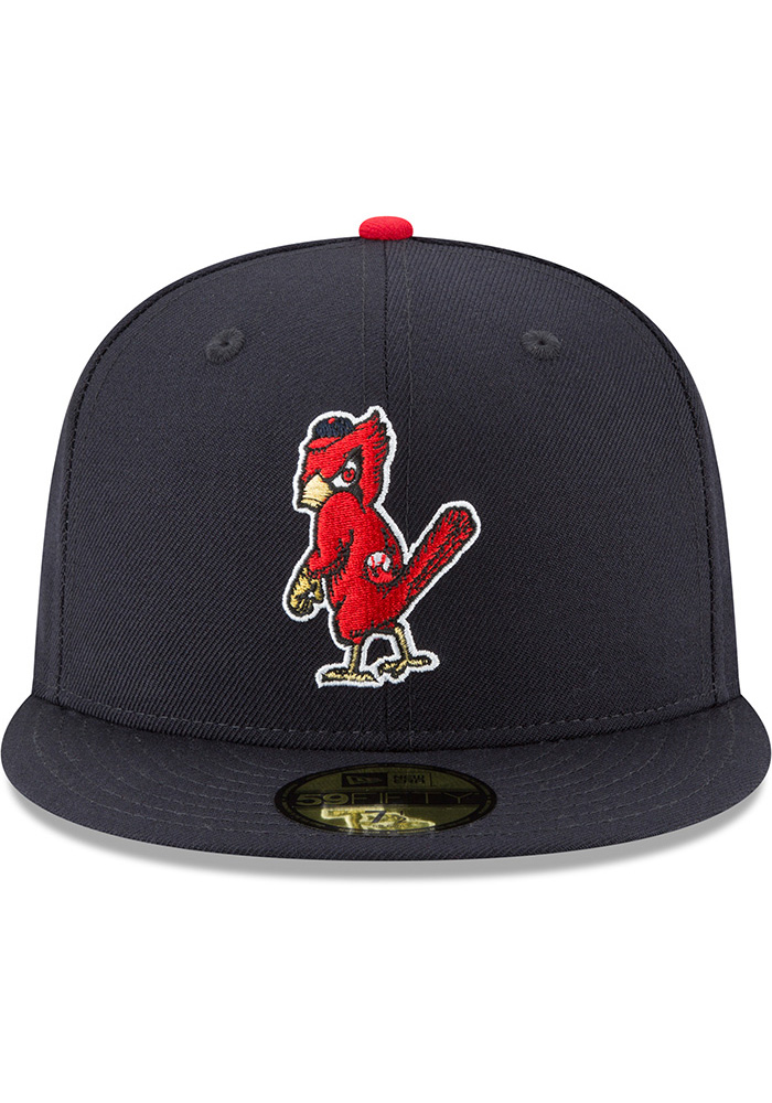 New Era St Louis Cardinals Mens Blue 1950 Cooperstown Wool 59FIFTY Fitted Hat - Image 3
