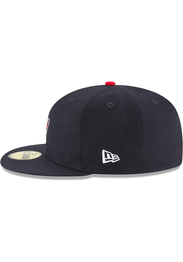New Era St Louis Cardinals Mens Blue 1950 Cooperstown Wool 59FIFTY Fitted Hat - Image 4