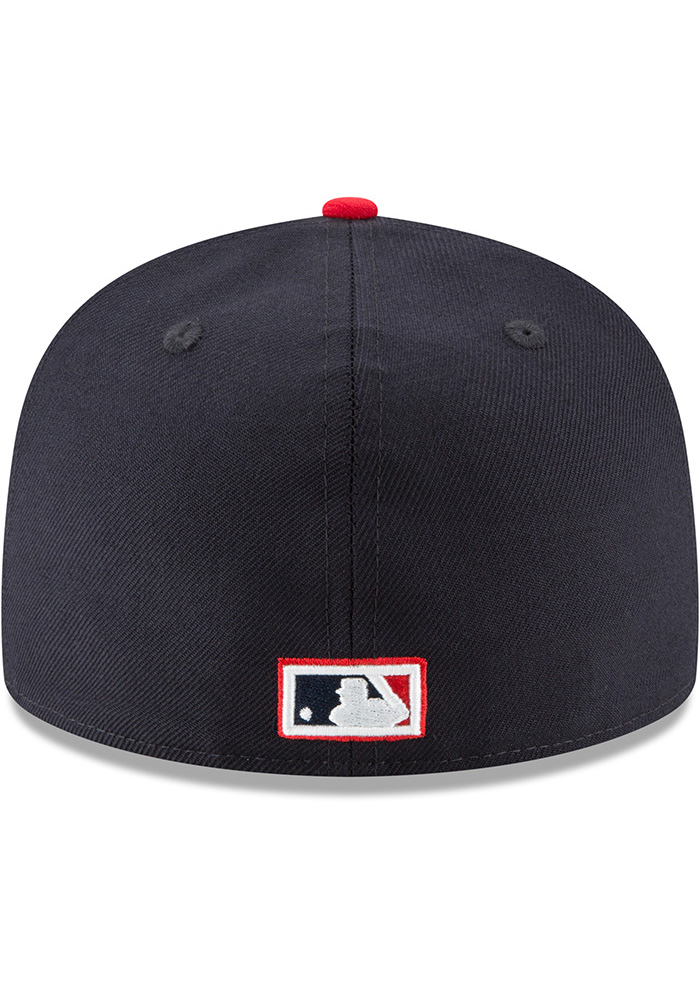 New Era St Louis Cardinals Mens Blue 1950 Cooperstown Wool 59FIFTY Fitted Hat - Image 5