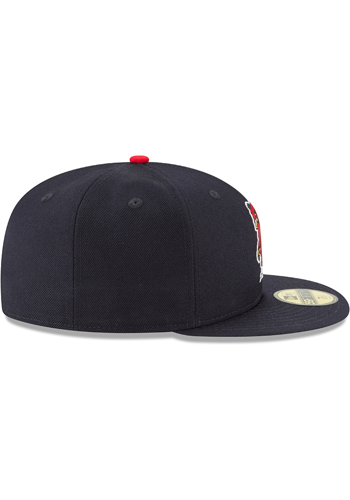 New Era St Louis Cardinals Mens Blue 1950 Cooperstown Wool 59FIFTY Fitted Hat - Image 6