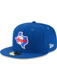 Texas Rangers New Era 1984 Cooperstown Wool 59FIFTY Fitted Hat - Blue