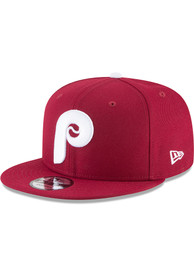 New Era Philadelphia Phillies Red Basic 9FIFTY Snapback Hat