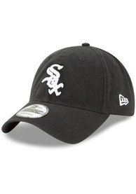 New Era Chicago White Sox Core Classic Replica Game 9TWENTY Adjustable Hat - Black