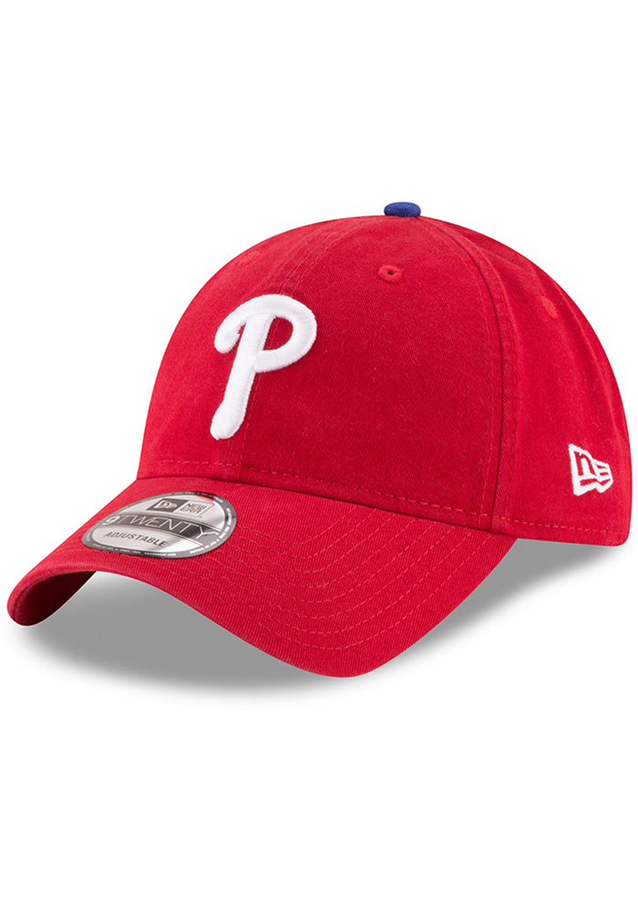 New Era Philadelphia Phillies Red Core Classic Replica Game 9TWENTY  Adjustable Hat 0dc078192695