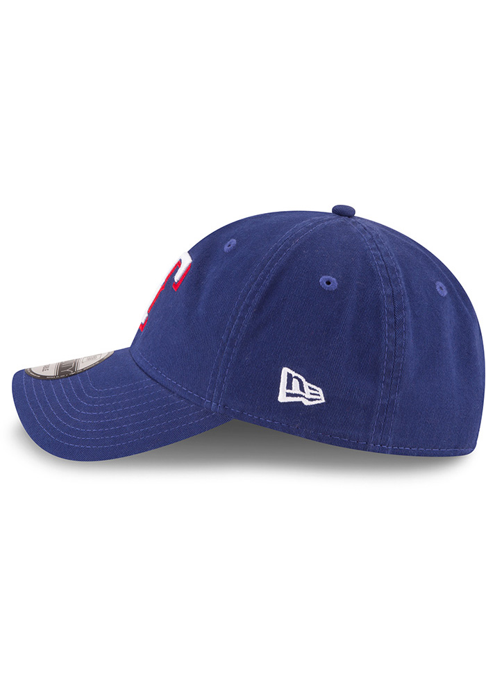 New Era Texas Rangers Core Classic Replica Game 9TWENTY Adjustable Hat - Blue - Image 4