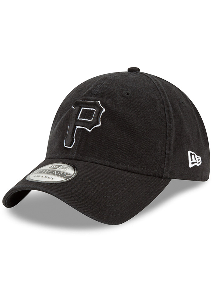 New Era Pittsburgh Pirates Core Classic 9TWENTY Adjustable Hat - Black - Image 1