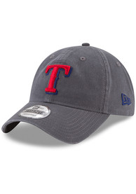 c83f4ea3dc0 New Era Texas Rangers Grey Core Classic 9TWENTY Adjustable Hat