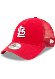 St Louis Cardinals New Era Trucker 9FORTY Adjustable Hat - Red