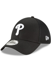 Philadelphia Phillies New Era Neo 39THIRTY Flex Hat - Black