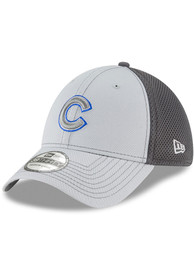 Chicago Cubs New Era Neo 39THIRTY Flex Hat - Grey