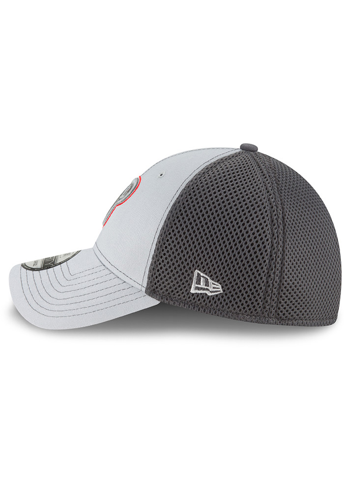 New Era Philadelphia Phillies Mens Grey Neo 39THIRTY Flex Hat - Image 4