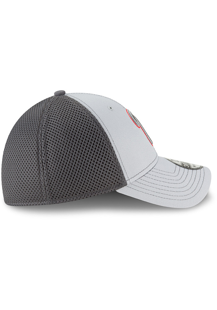 New Era Philadelphia Phillies Mens Grey Neo 39THIRTY Flex Hat - Image 6