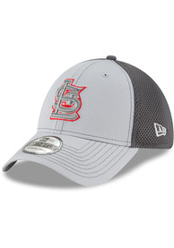 pretty nice 5dcf4 b1848 New Era St Louis Cardinals Grey Neo 39THIRTY Flex Hat
