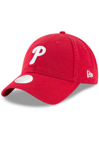 New Era Philadelphia Phillies Womens Red Core Classic 9TWENTY Adjustable Hat