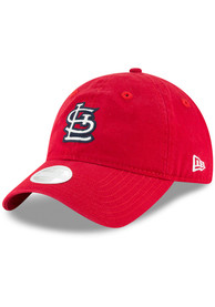 sports shoes 7d595 9ae03 New Era St Louis Cardinals Womens Red Team Glisten 9TWENTY Adjustable Hat