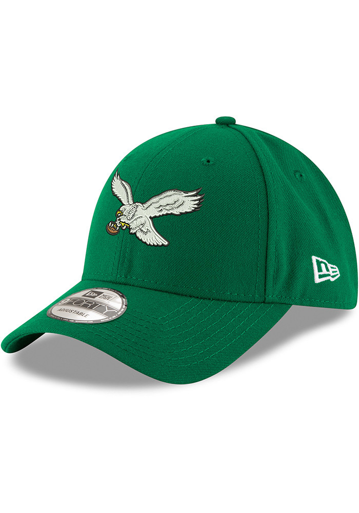 New Era Philadelphia Eagles Retro 9FORTY Adjustable Hat - Kelly Green - Image 1