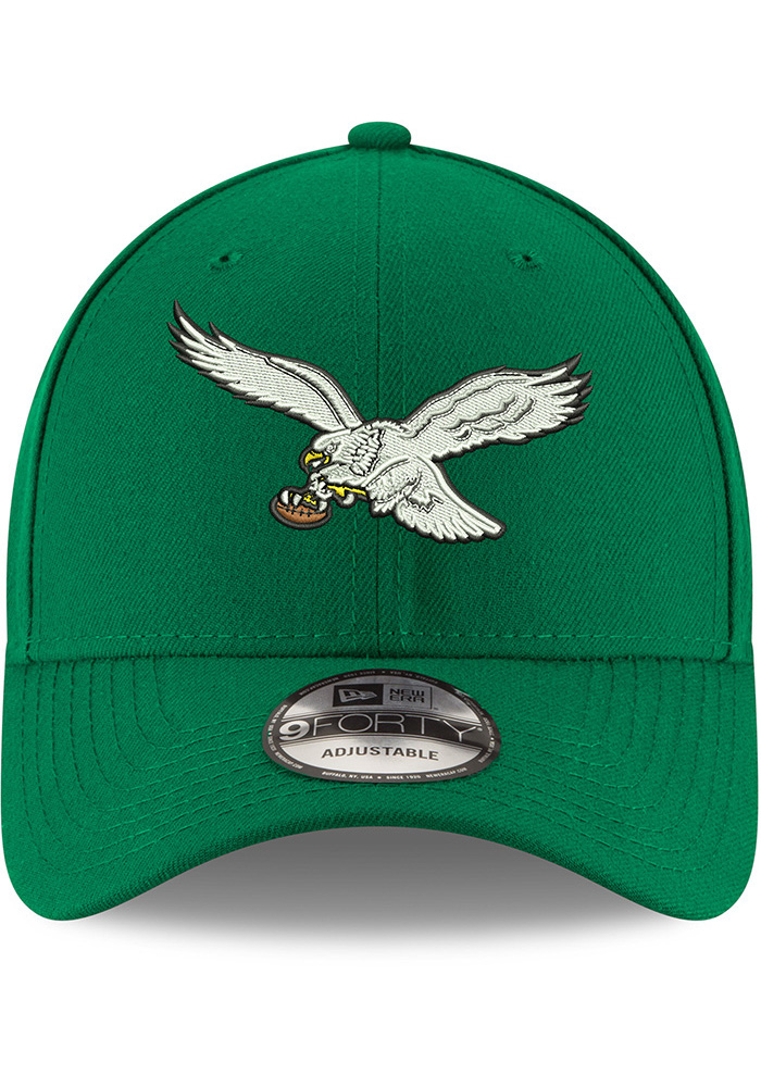 New Era Philadelphia Eagles Retro 9FORTY Adjustable Hat - Kelly Green - Image 3
