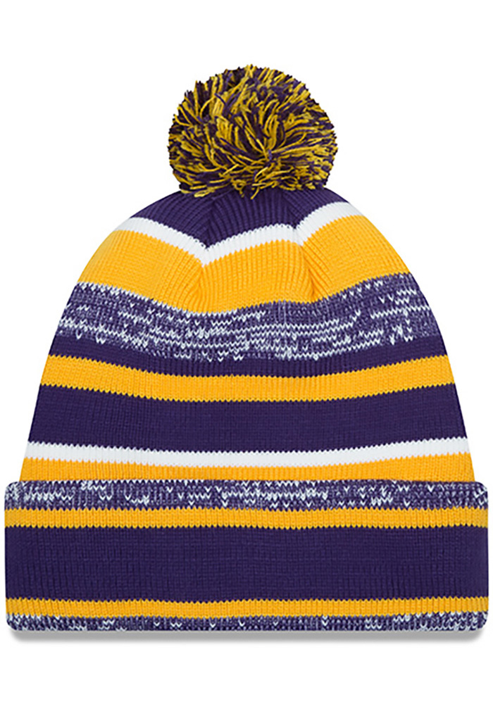 New Era LSU Tigers Purple Cuff Mens Knit Hat - Image 2