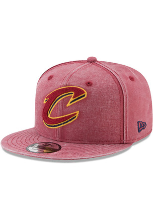 New Era Cleveland Cavaliers Mens Maroon Washed Over 9FIFTY Snapback Hat