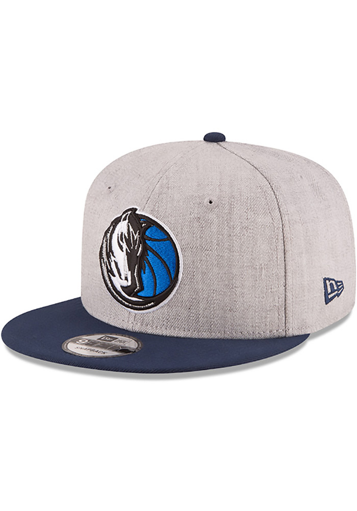 New Era Dallas Mavericks Grey Heather Gray 9FIFTY Mens Snapback Hat - Image 1
