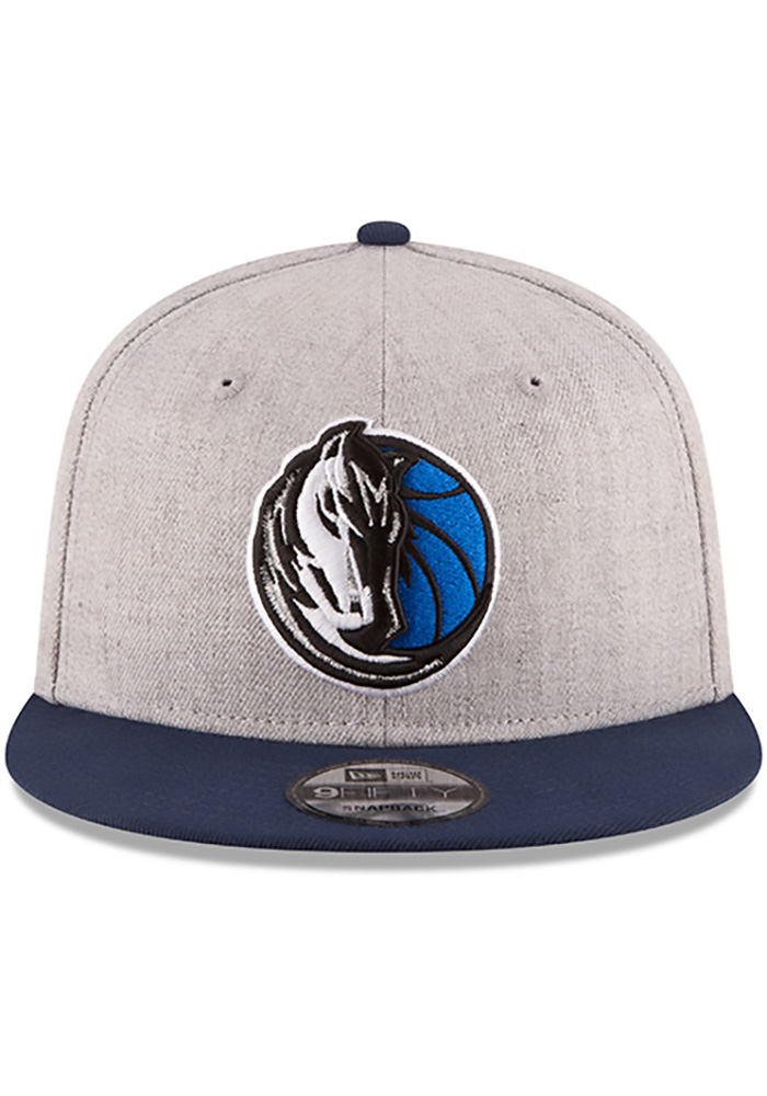 New Era Dallas Mavericks Grey Heather Gray 9FIFTY Mens Snapback Hat - Image 2