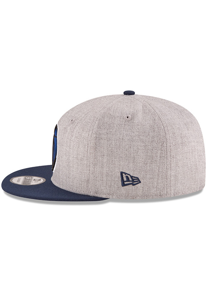 New Era Dallas Mavericks Grey Heather Gray 9FIFTY Mens Snapback Hat - Image 3