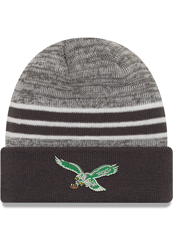 New Era Philadelphia Eagles Grey Retro Marled Cuff Knit Hat ec8ea7bf8