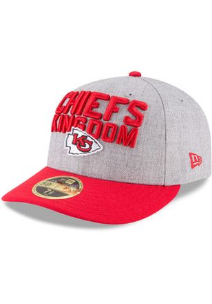 Kansas City Chiefs New Era Grey 2018 On-Stage Draft LP 59FIFTY Fitted Hat 0b2920a05