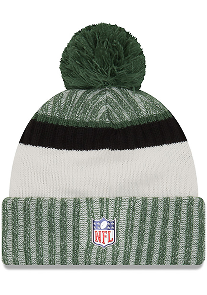 New Era New York Jets Green 2017 Official Sport Mens Knit Hat - Image 2