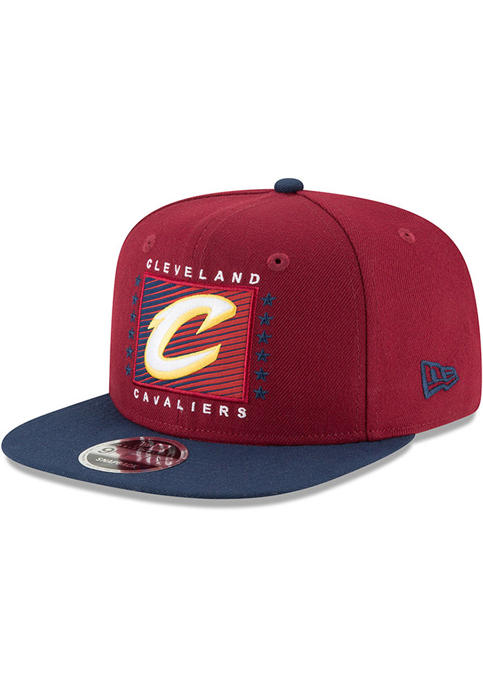 New Era Cleveland Cavaliers Maroon Retro Blocker 9FIFTY Mens Snapback Hat - Image 1