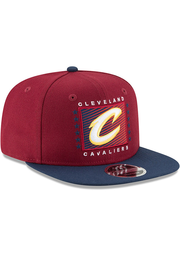 New Era Cleveland Cavaliers Maroon Retro Blocker 9FIFTY Mens Snapback Hat - Image 2