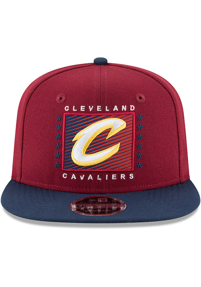 New Era Cleveland Cavaliers Maroon Retro Blocker 9FIFTY Mens Snapback Hat - Image 3