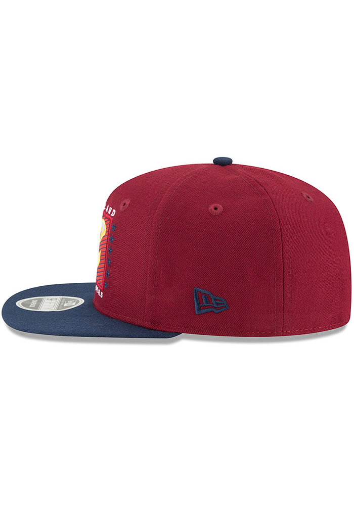 New Era Cleveland Cavaliers Maroon Retro Blocker 9FIFTY Mens Snapback Hat - Image 4