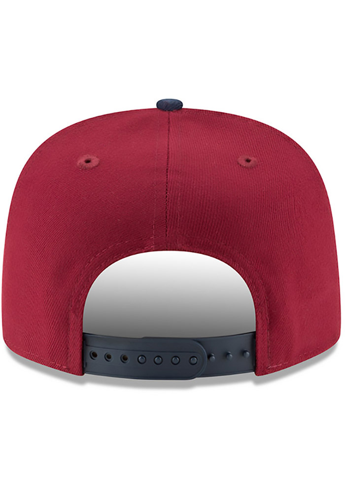 New Era Cleveland Cavaliers Maroon Retro Blocker 9FIFTY Mens Snapback Hat - Image 5