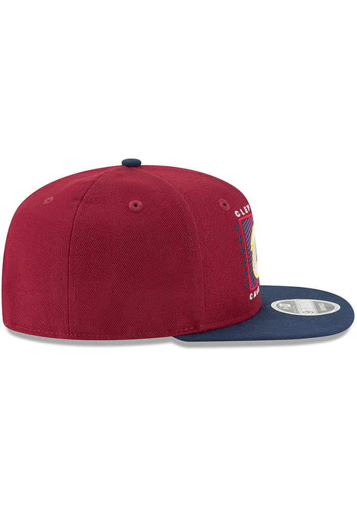 New Era Cleveland Cavaliers Maroon Retro Blocker 9FIFTY Mens Snapback Hat - Image 6