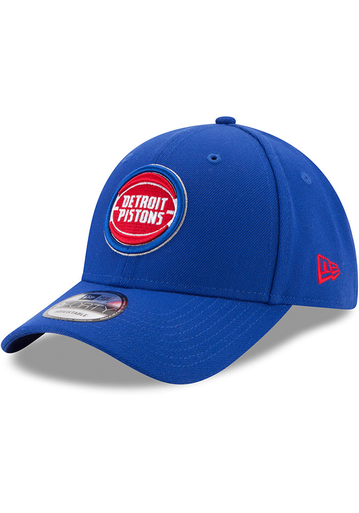 New Era Detroit Pistons The League 9FORTY Adjustable Hat - Blue - Image 1