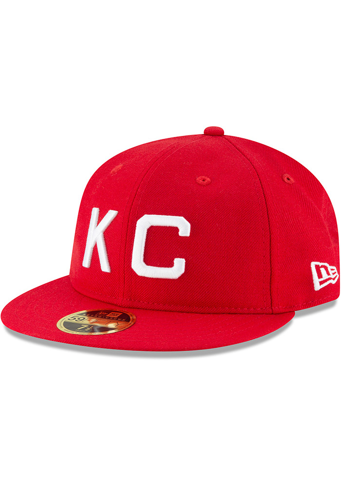 New Era Kansas City Monarchs Mens Red Wool Retro Fit 59FIFTY Fitted Hat - Image 1