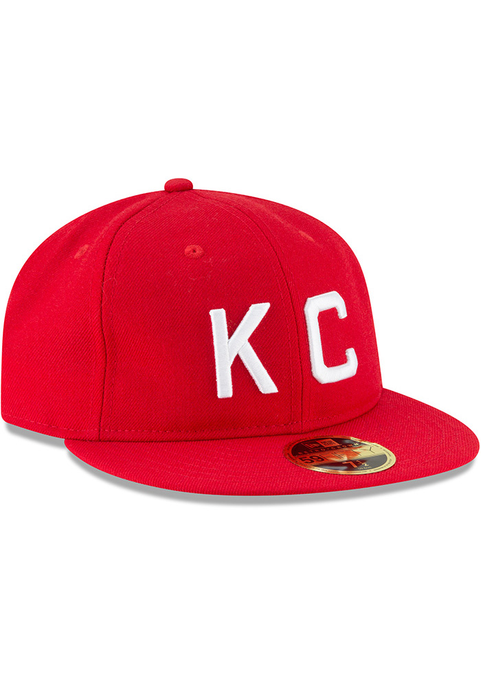 New Era Kansas City Monarchs Mens Red Wool Retro Fit 59FIFTY Fitted Hat - Image 2