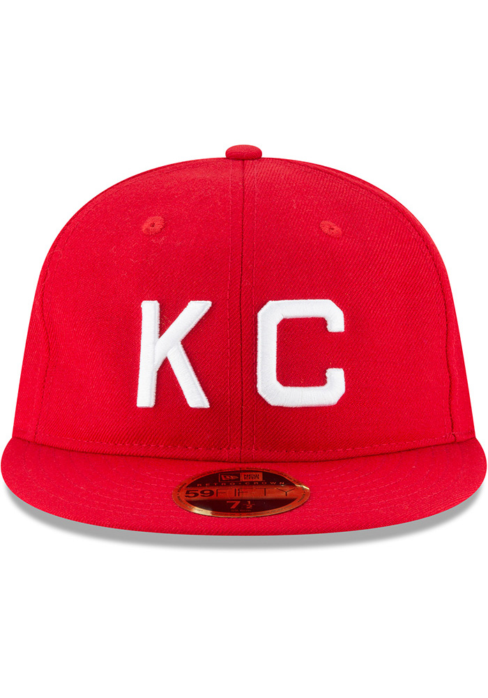 New Era Kansas City Monarchs Mens Red Wool Retro Fit 59FIFTY Fitted Hat - Image 3
