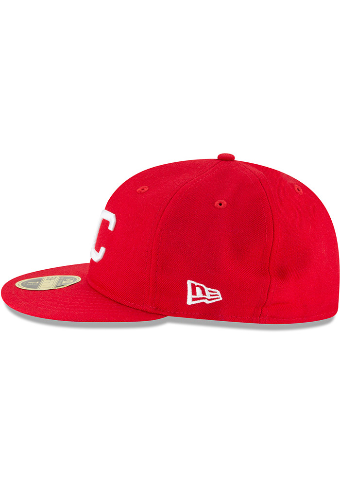 New Era Kansas City Monarchs Mens Red Wool Retro Fit 59FIFTY Fitted Hat - Image 4