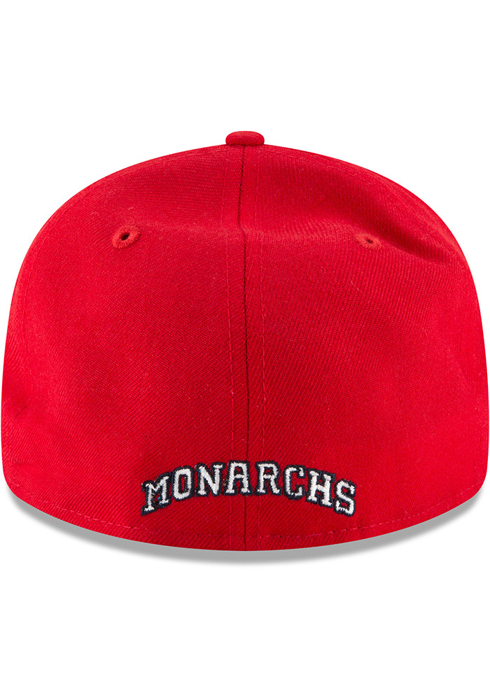 New Era Kansas City Monarchs Mens Red Wool Retro Fit 59FIFTY Fitted Hat - Image 5