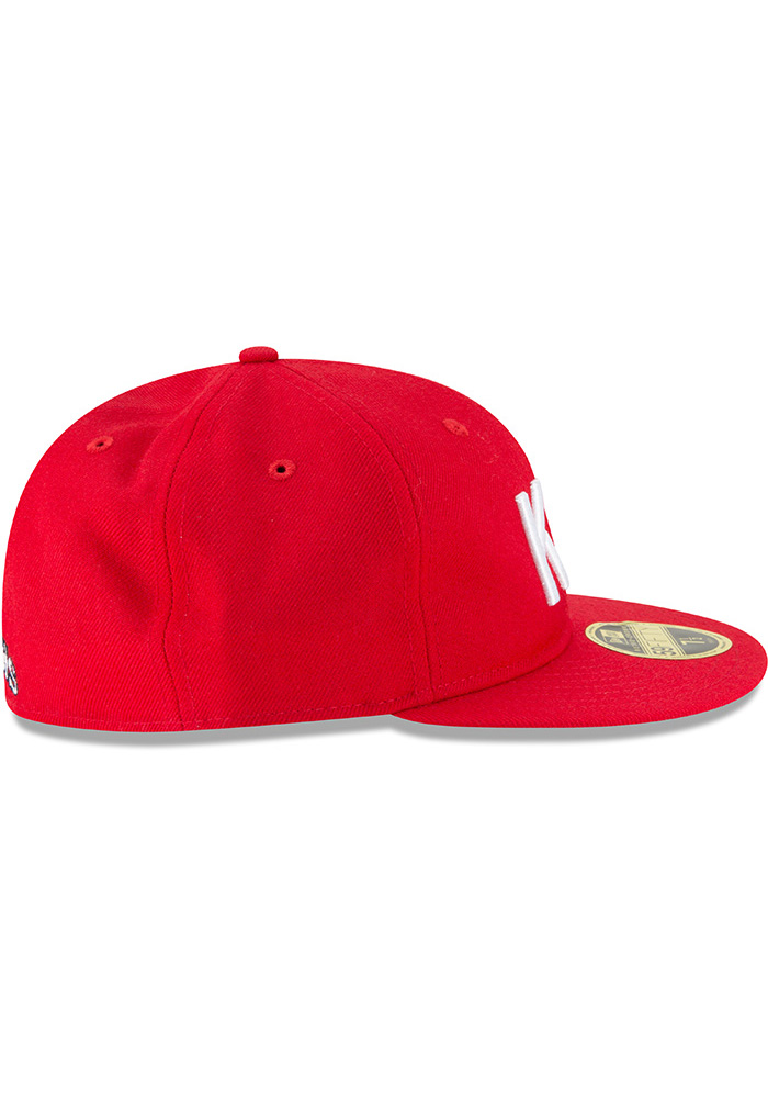 New Era Kansas City Monarchs Mens Red Wool Retro Fit 59FIFTY Fitted Hat - Image 6