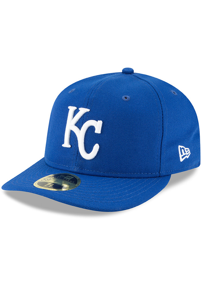 New Era Kansas City Royals Mens Blue Fan Retro Fit 59FIFTY Fitted Hat - Image 1