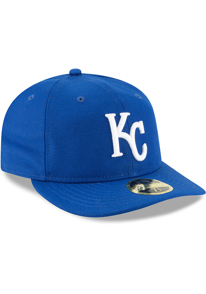 New Era Kansas City Royals Mens Blue Fan Retro Fit 59FIFTY Fitted Hat - Image 2